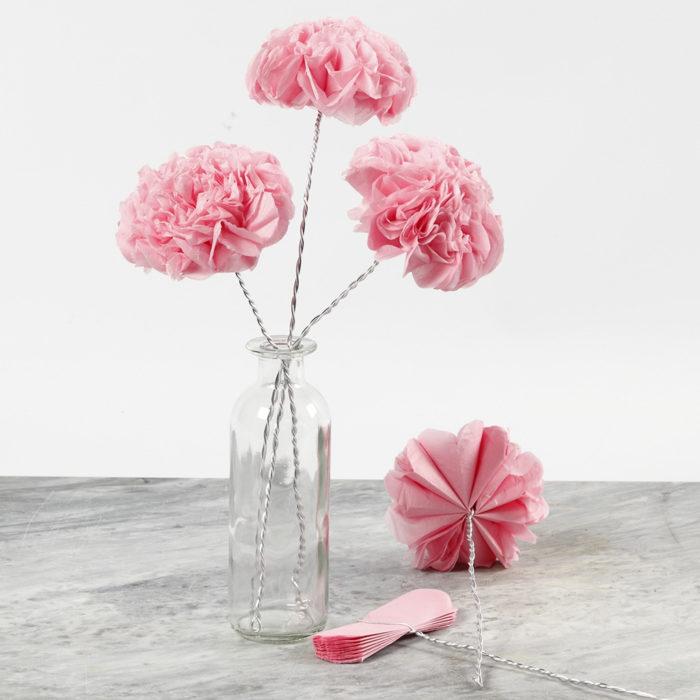 jak zrobić kwiaty z bibuły